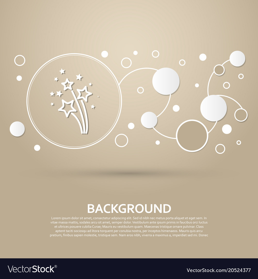 Firework icon on a brown background with elegant