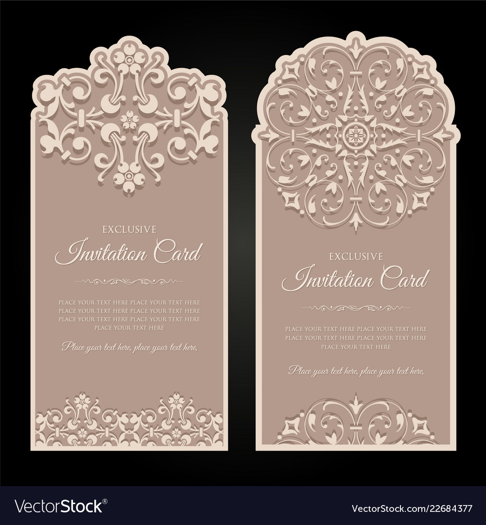 Invitation card design in vintage style Royalty Free Vector