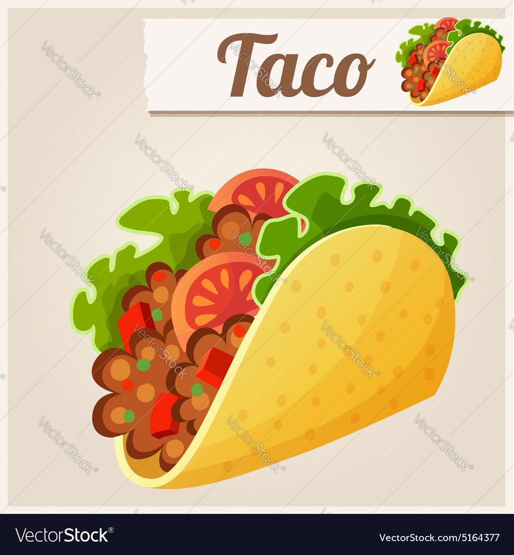 Mexican Taco Detailed Icon