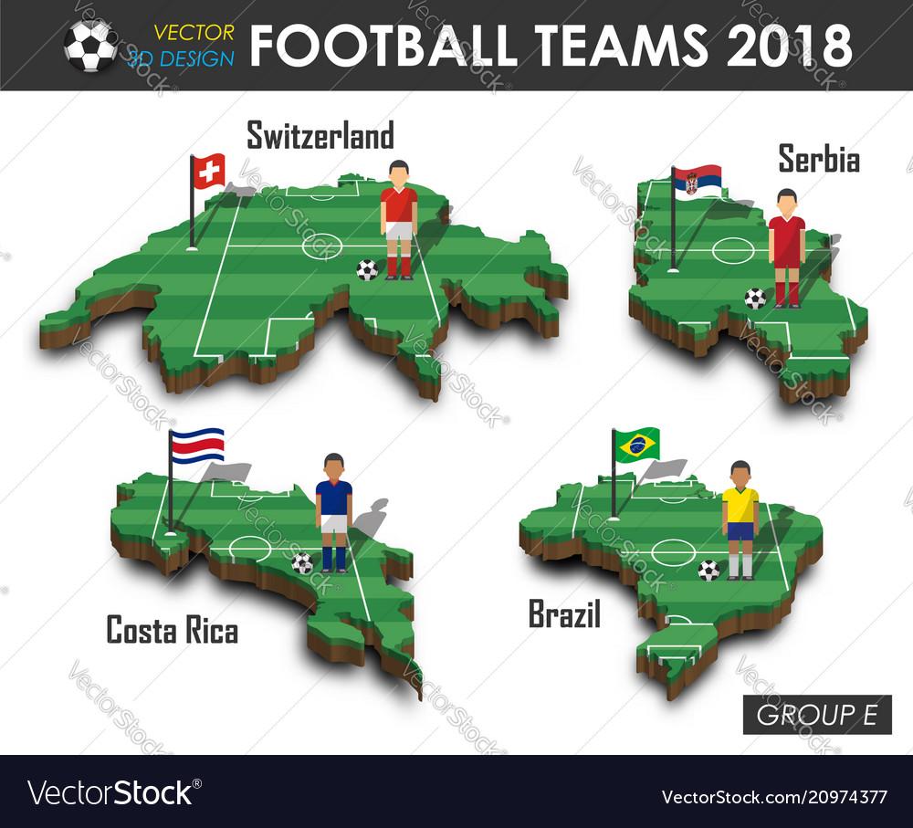 National soccer teams 2018 group e
