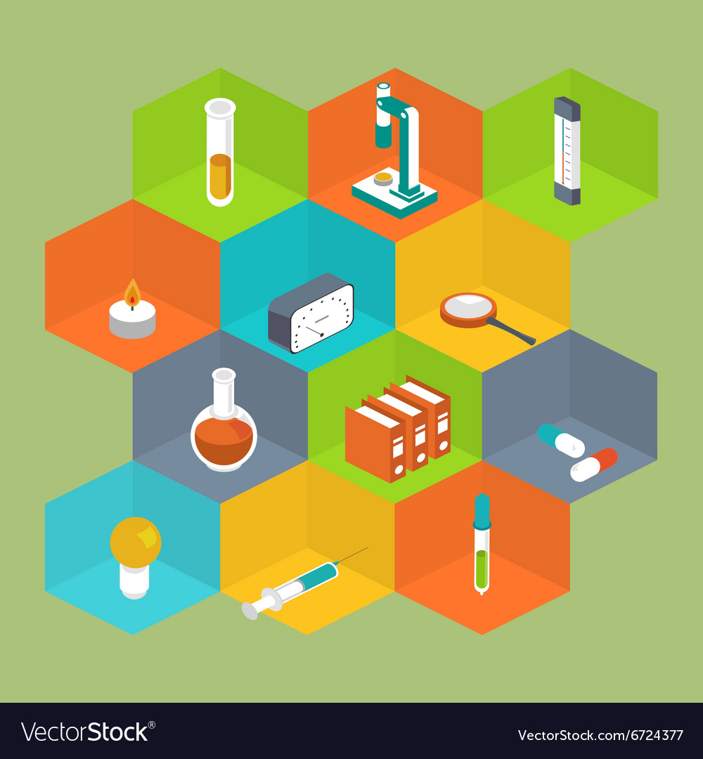 Science Icon Isometric style Medical symbol