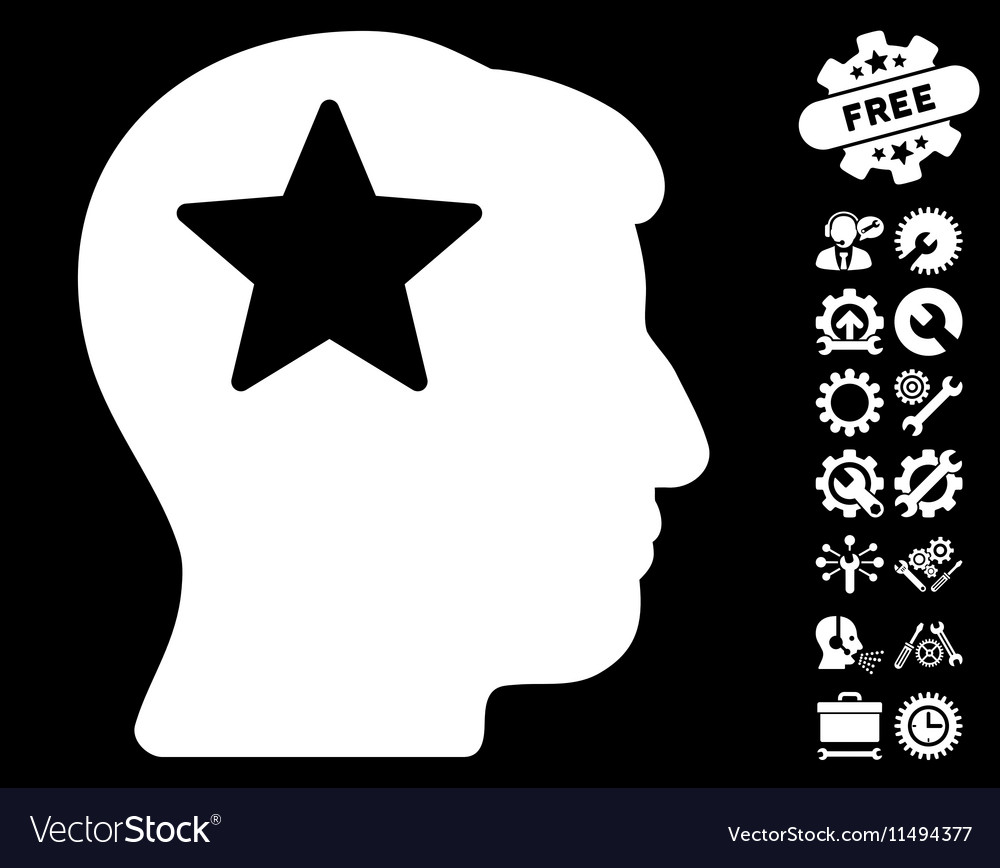 Star Head Icon with Tools Bonus