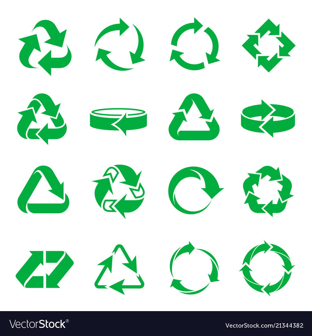 Arrows recycling icons