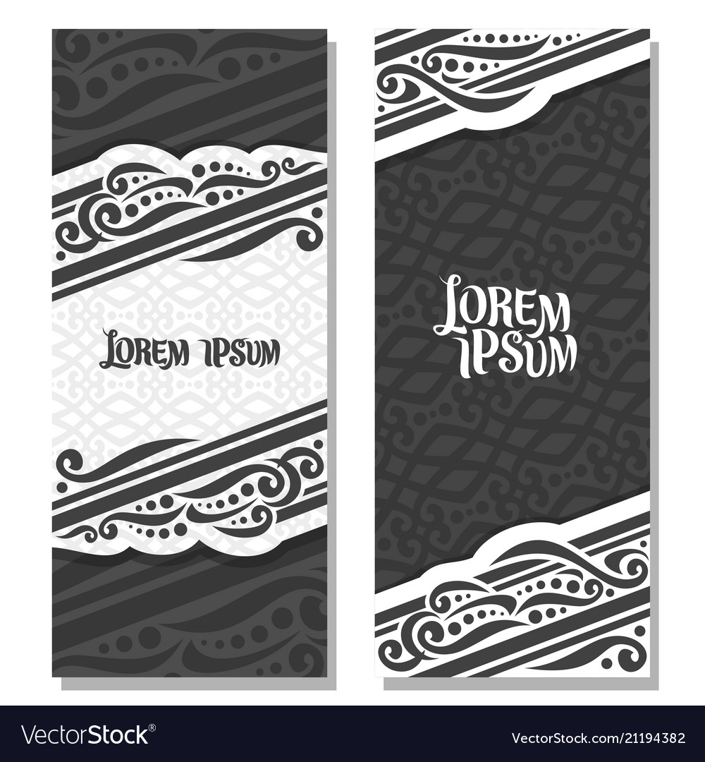 Black and white vertical banners