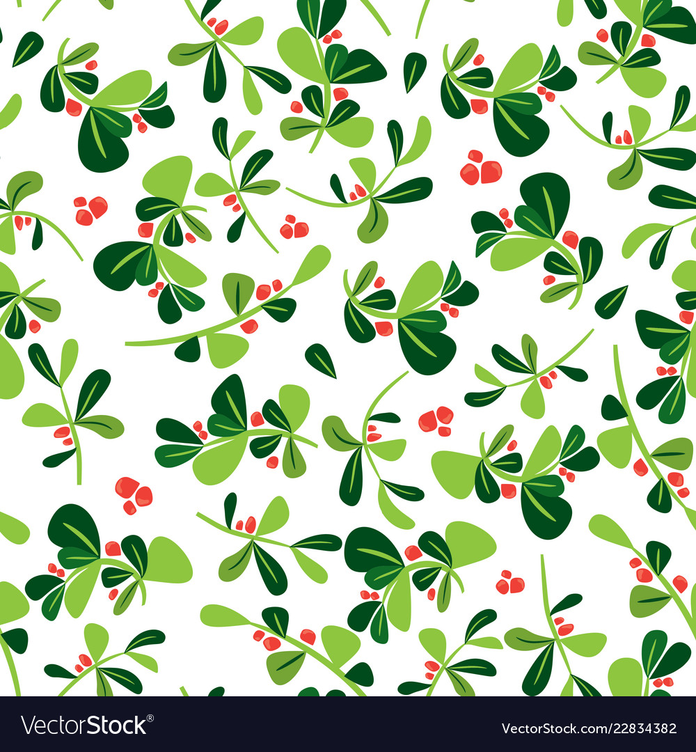 Christmas seamless holly berry pattern