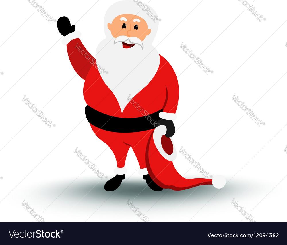 Christmas smiling Santa Claus character say Hello