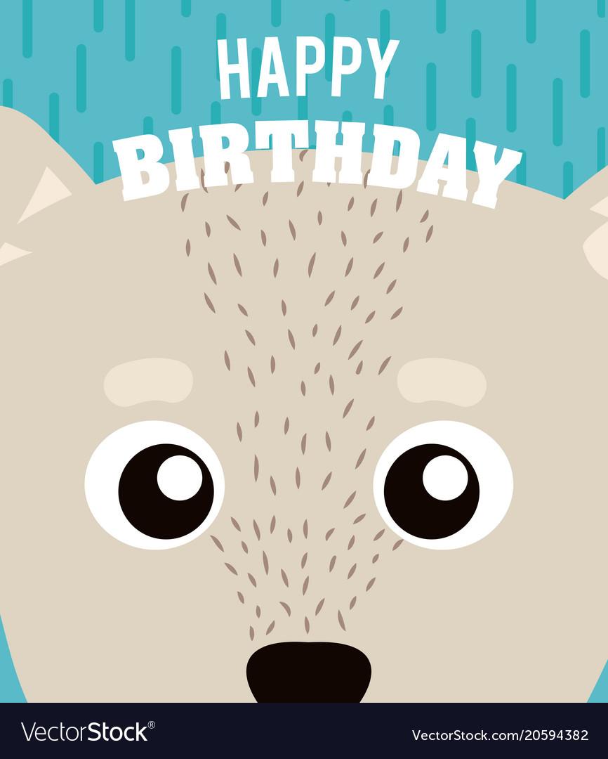 Dog Happy Birthday Card Vector Image