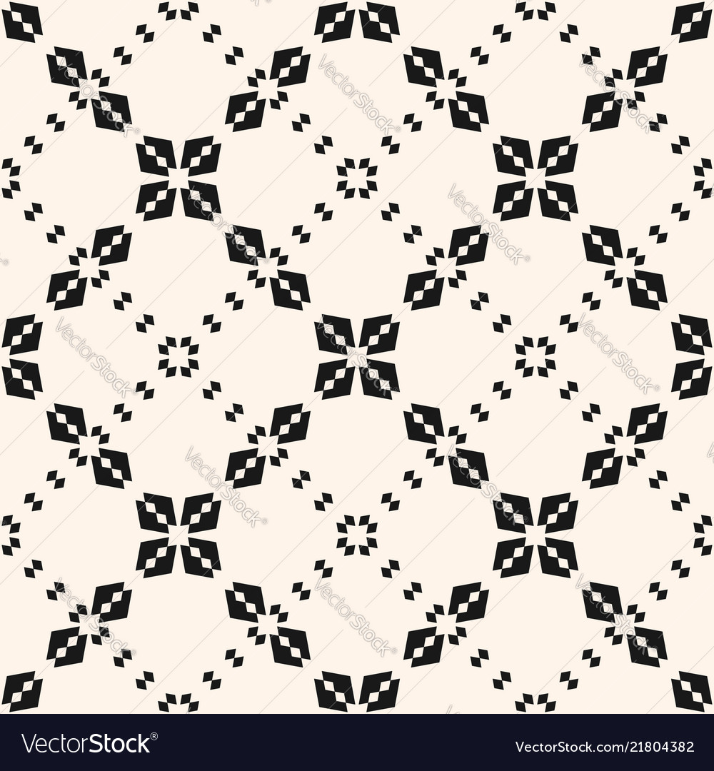 Geometric seamless pattern abstract floral grid