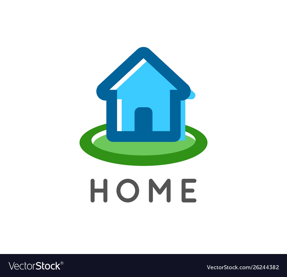 Home logo for a real estate and home repair