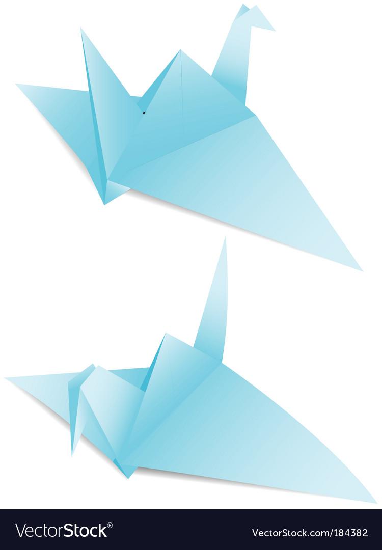Paper Crane Origami Royalty Free Vector Image Vectorstock