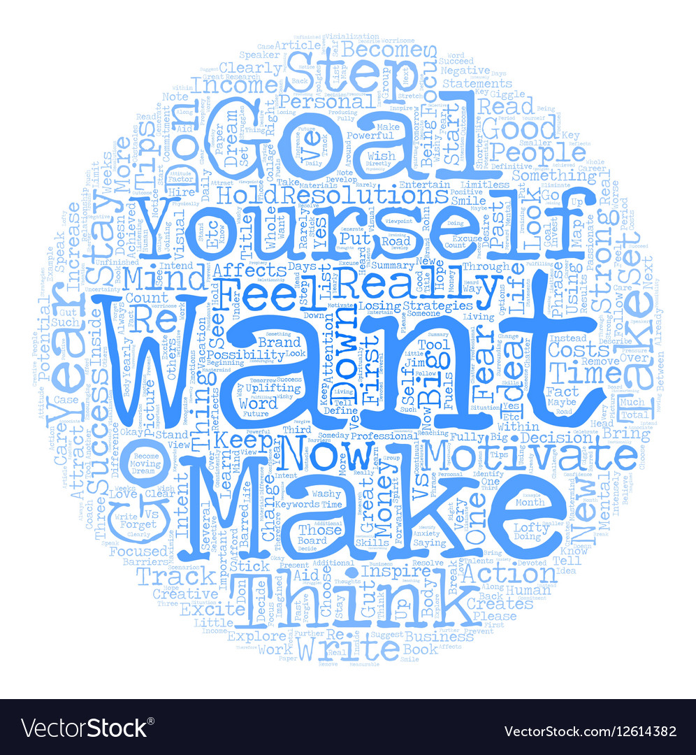 Personal Goals that Inspire and Motivate text
