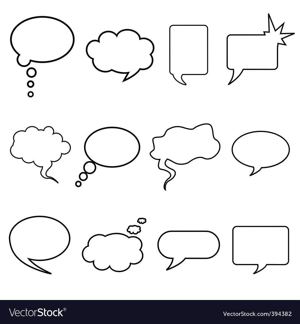 Talking bubble vector image