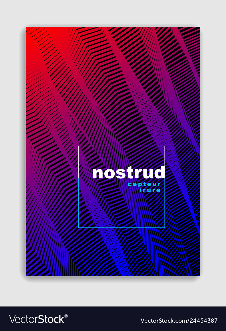 Abstract lines minimal modern brochure design