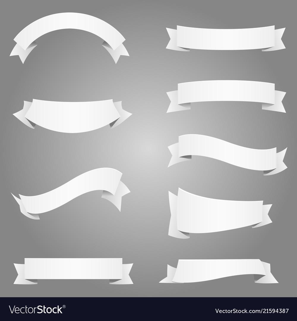 Banner frame label ribbon element design white