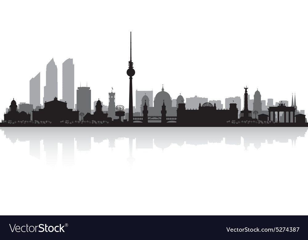 Berlin Germany city skyline silhouette