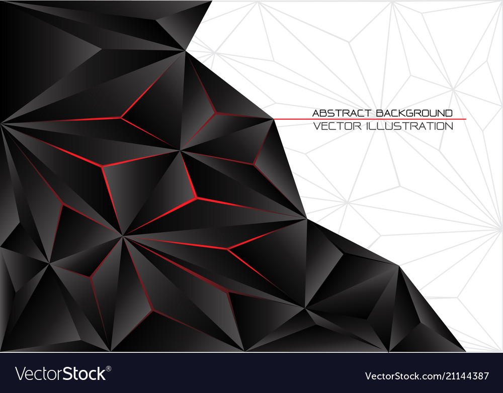 Black triangle polygon red light with white gray