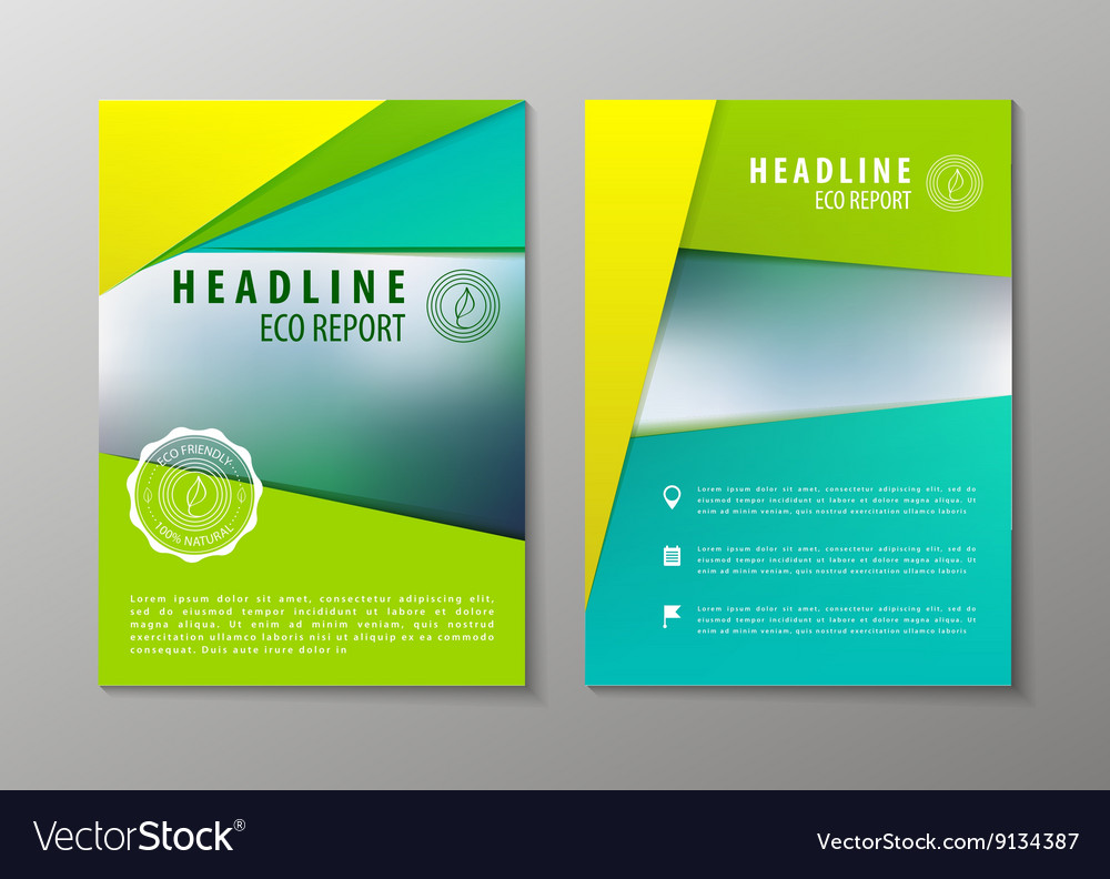 Corporate brochure flyer design layout