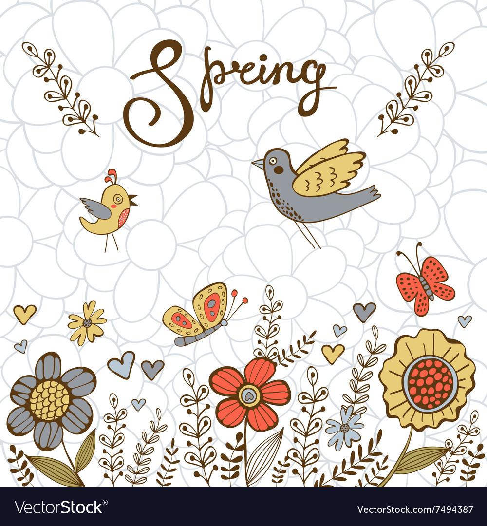 Elegant spring post card