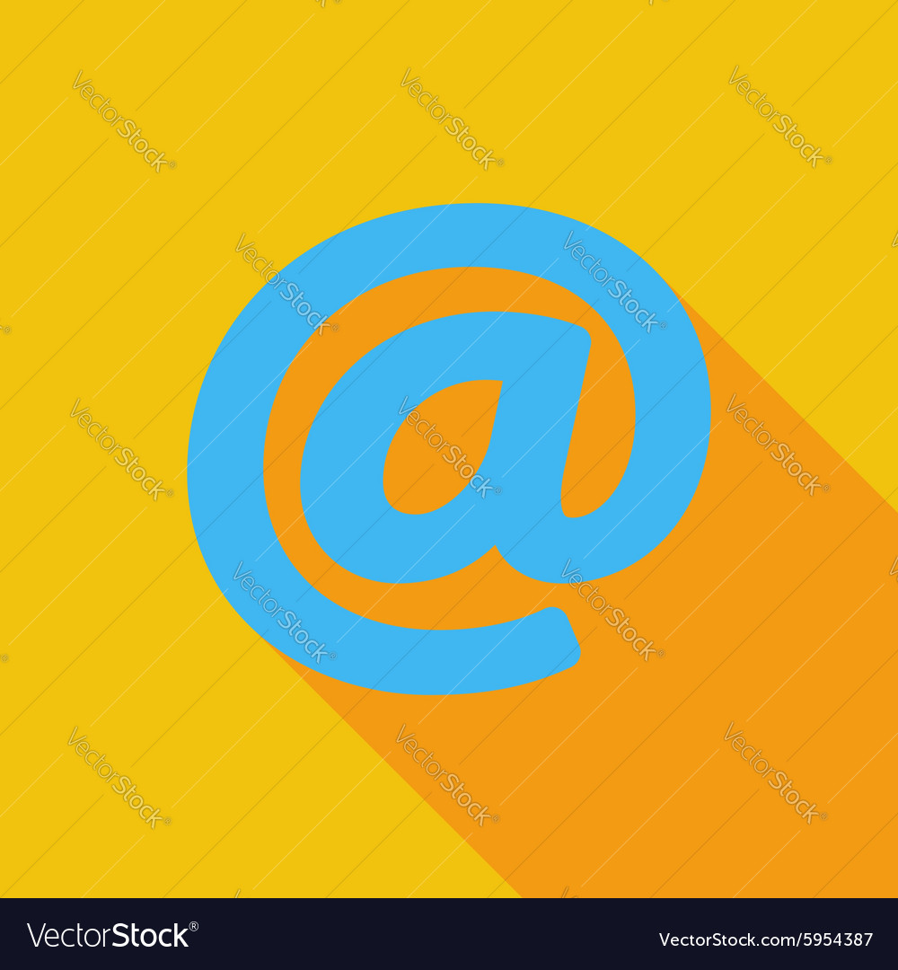 Email single icon vector image