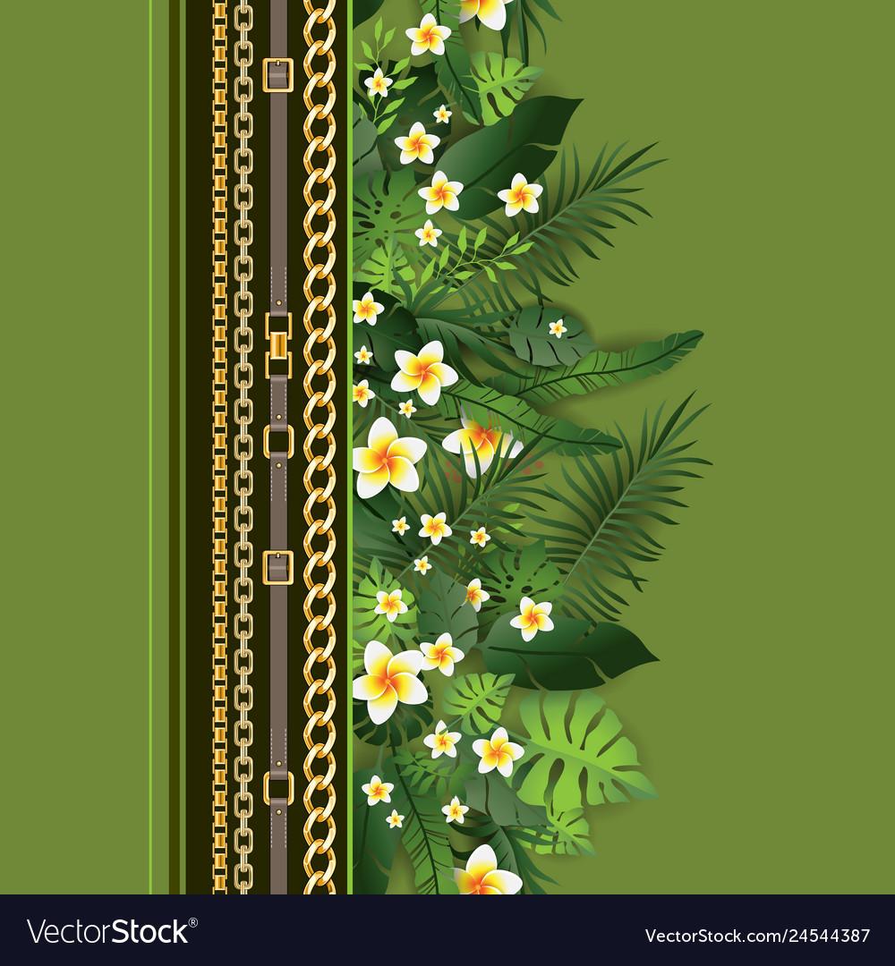Fashion greenery print