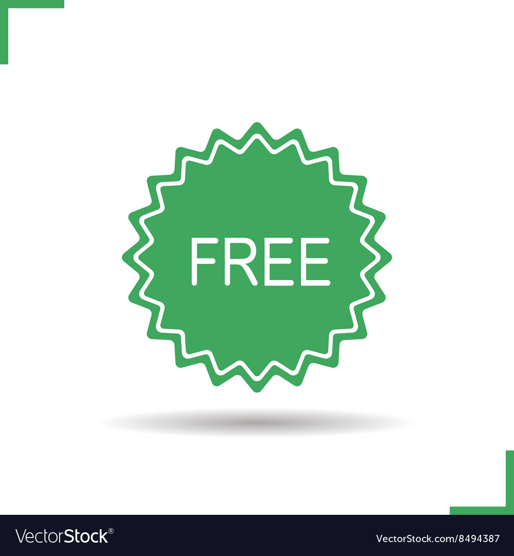 Free badge icon vector image
