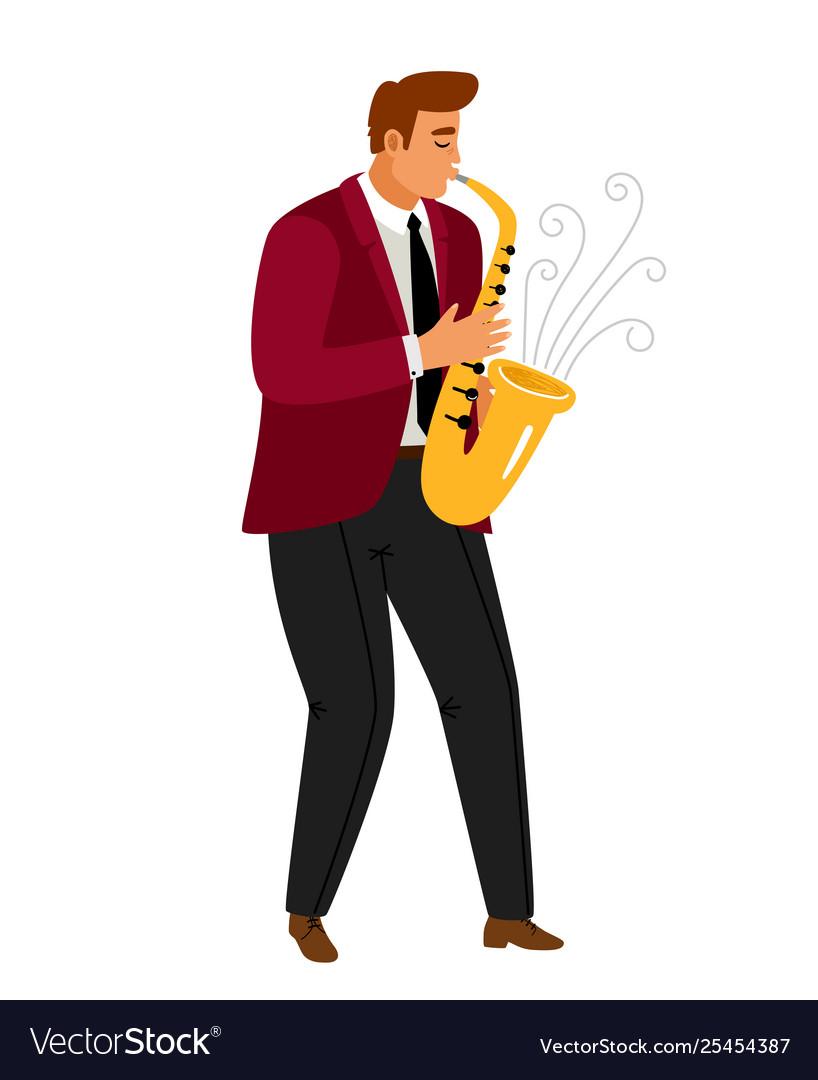 Jazz music saxophonist player