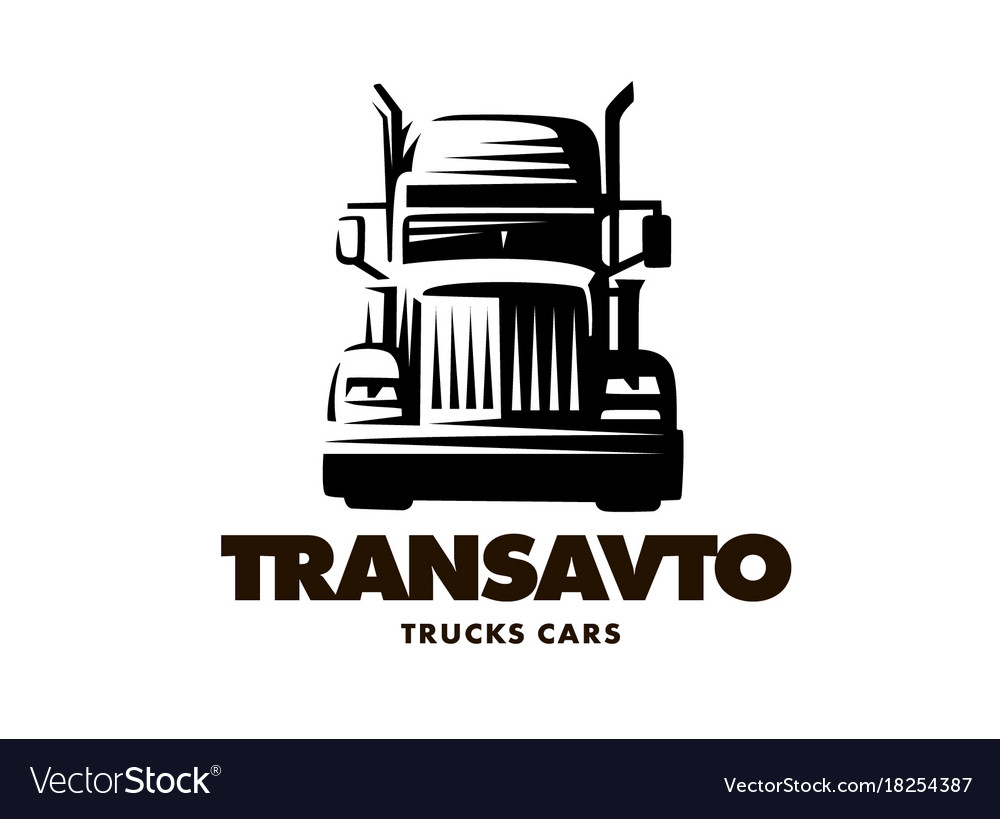 Logo truck on white background