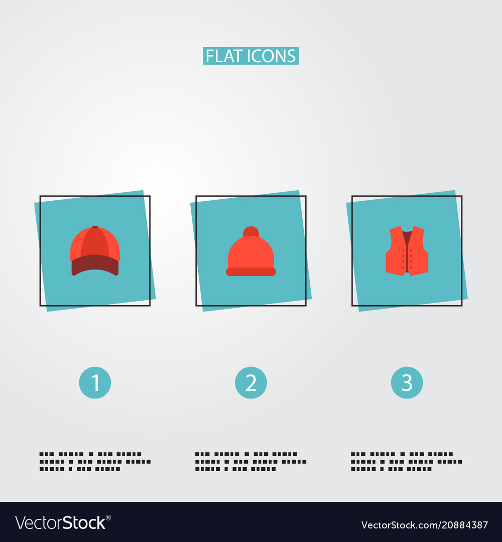 Set of clothes icons flat style symbols with