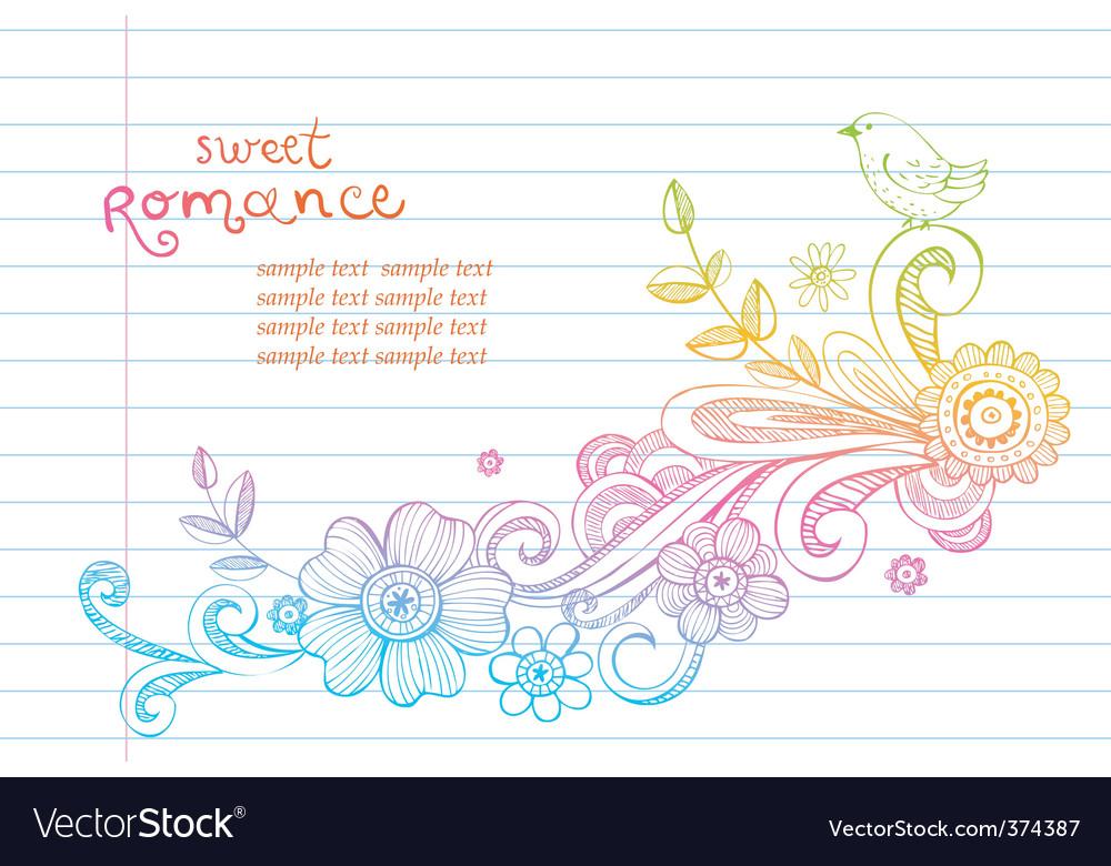 Sketch floral composition