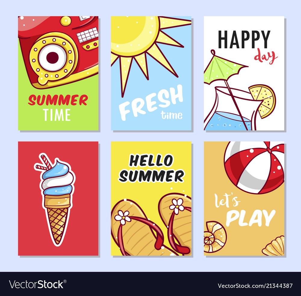 Summer card set