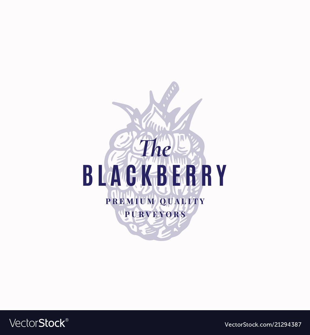 The Blackberry Abstract Sign Symbol Or Royalty Free Vector