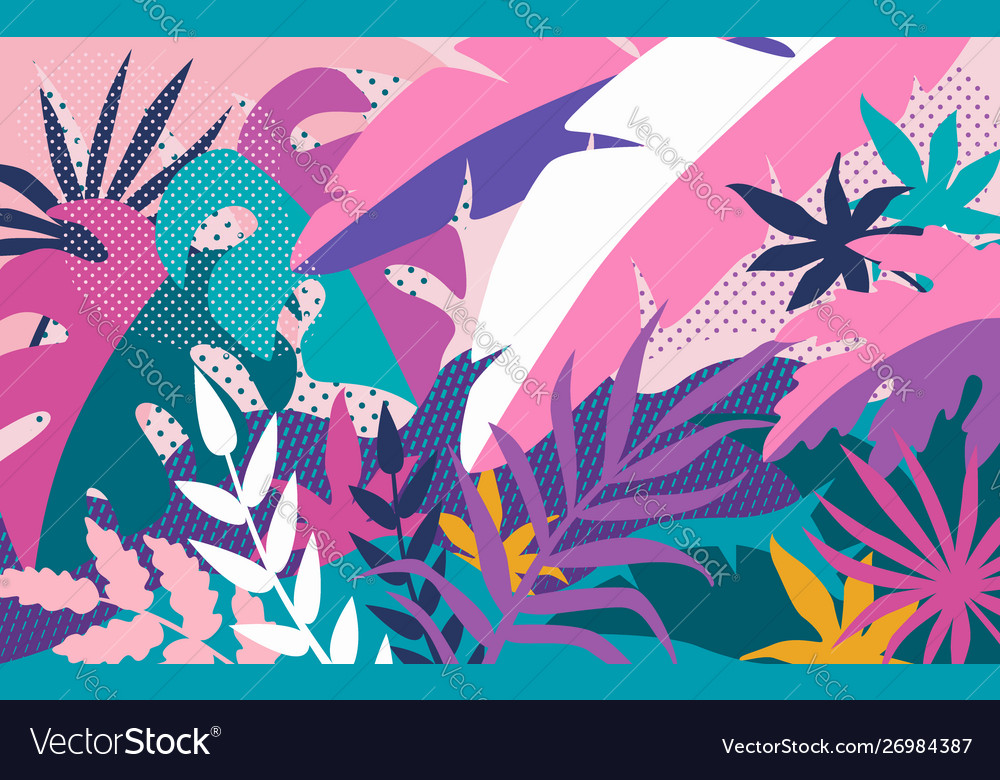 Tropical abstract background bright colorful
