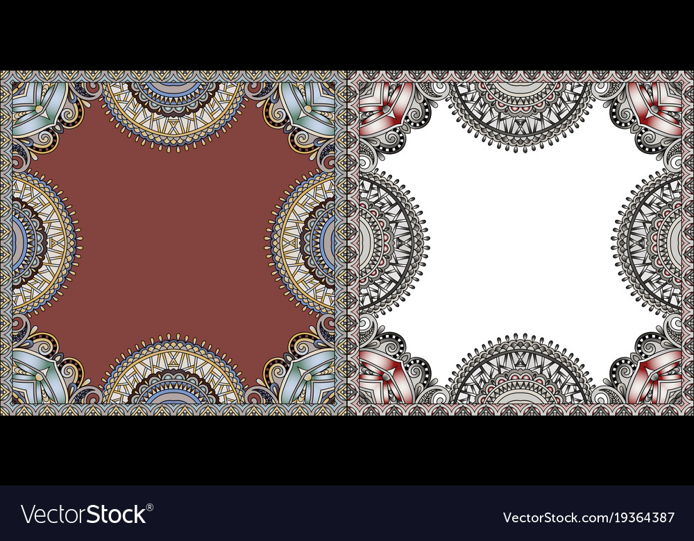 Two floral frame design ornate flower pattern vector image