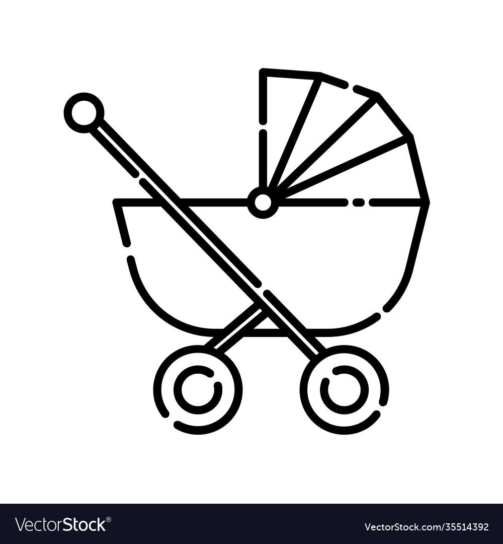 Baby stroller icon design clip art line icon
