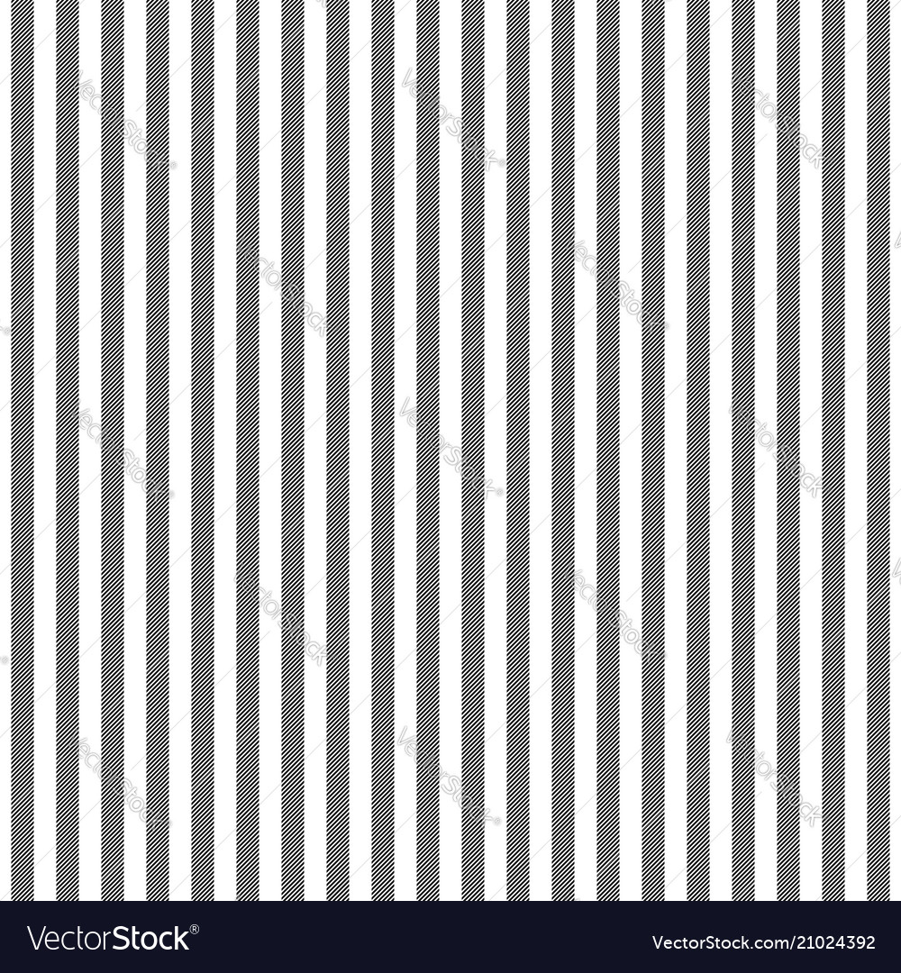 Black white striped fabric texture seamless vector image