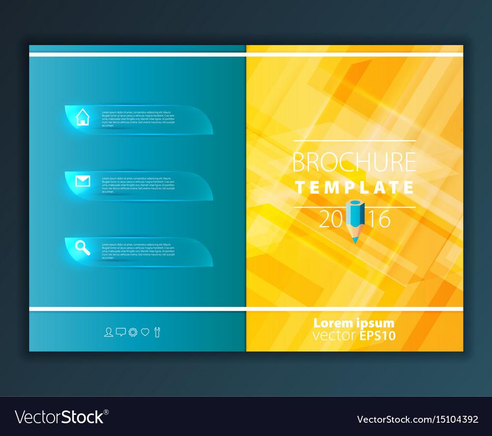 Brochure flyer design template vector image
