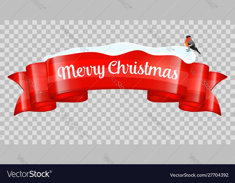 Christmas realistic banner