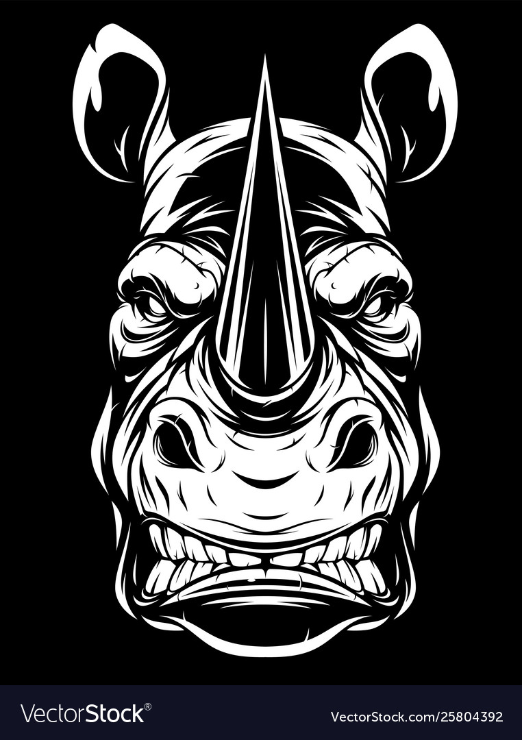 Head a ferocious rhino