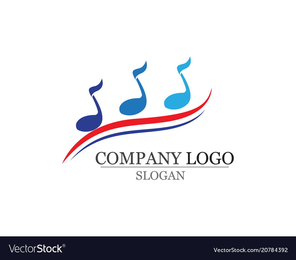 Music note symbols logo and icons template app vector image