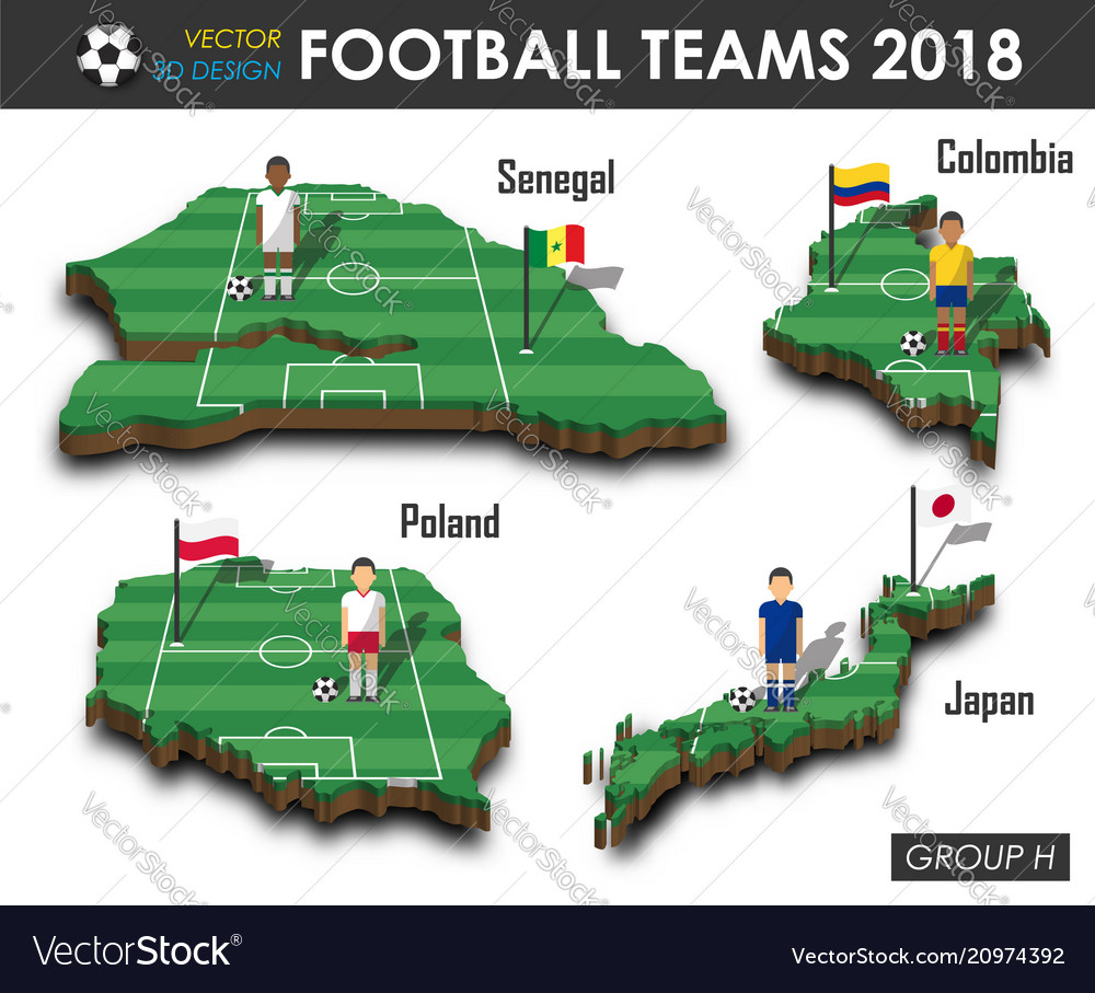 National soccer teams 2018 group h