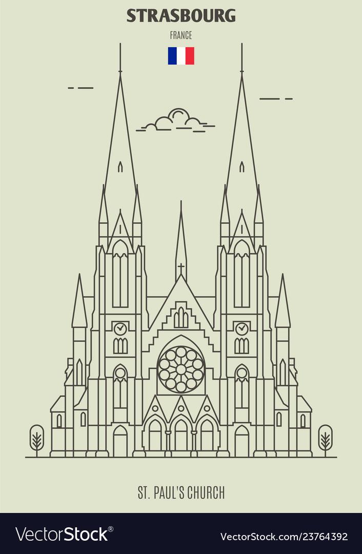 St pauls church of strasbourg