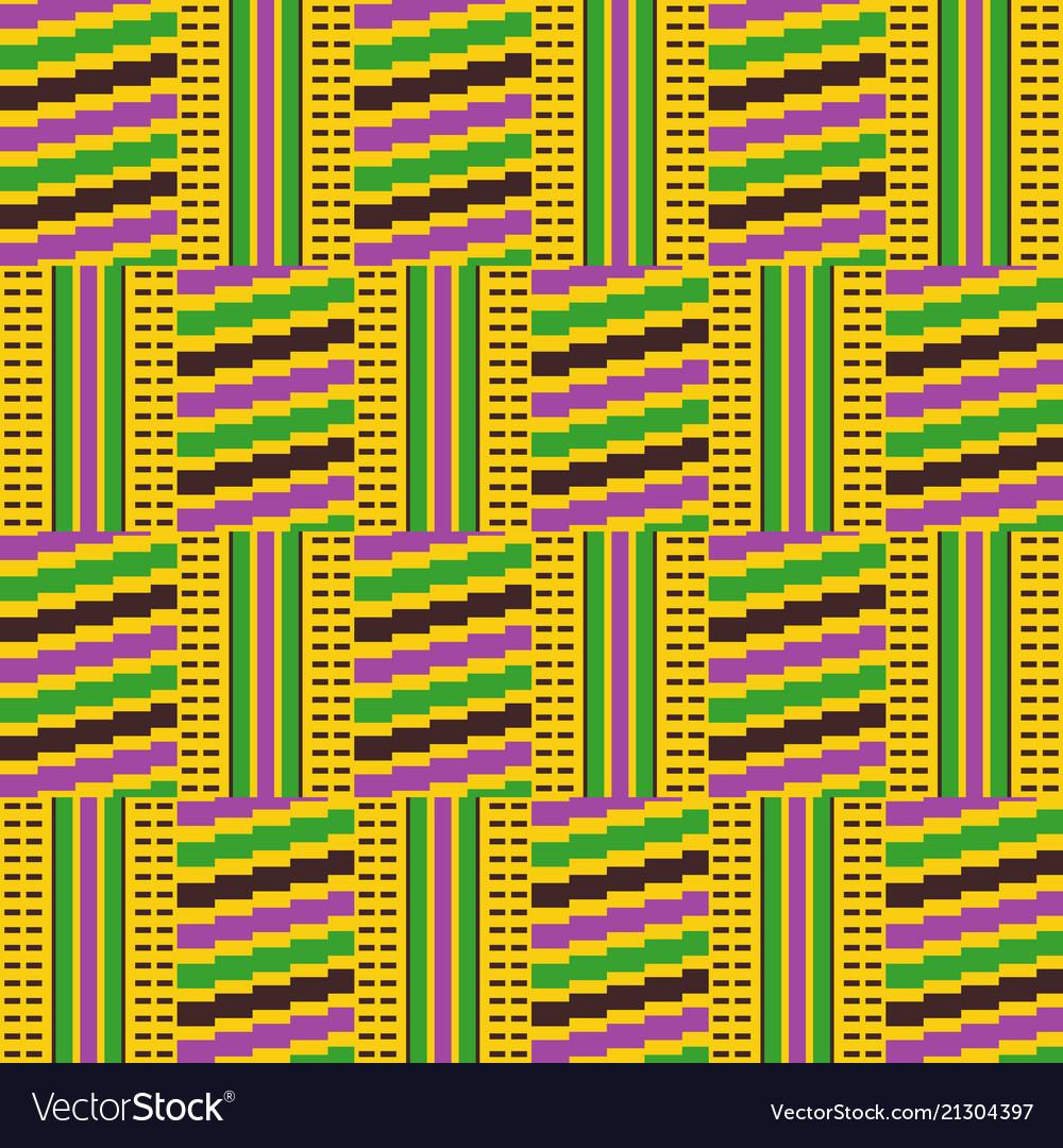 Cloth kentegeometric seamless pattern