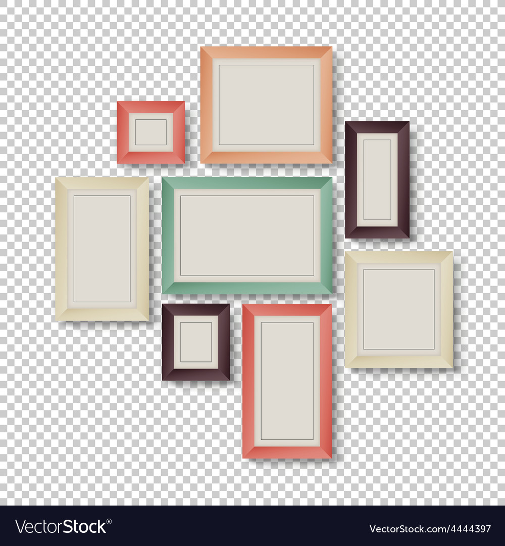 Frames set hipster color theme Royalty Free Vector Image