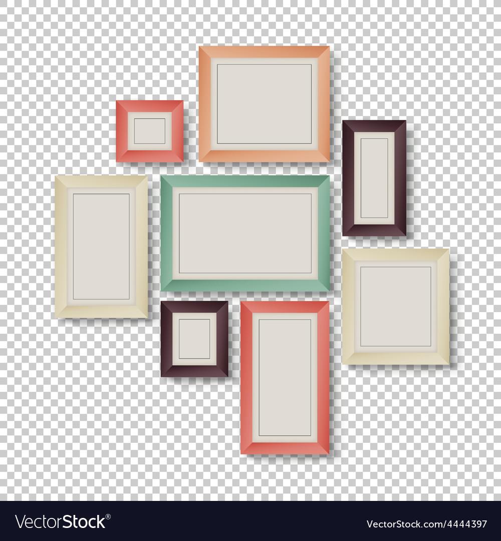 Frames set hipster color theme