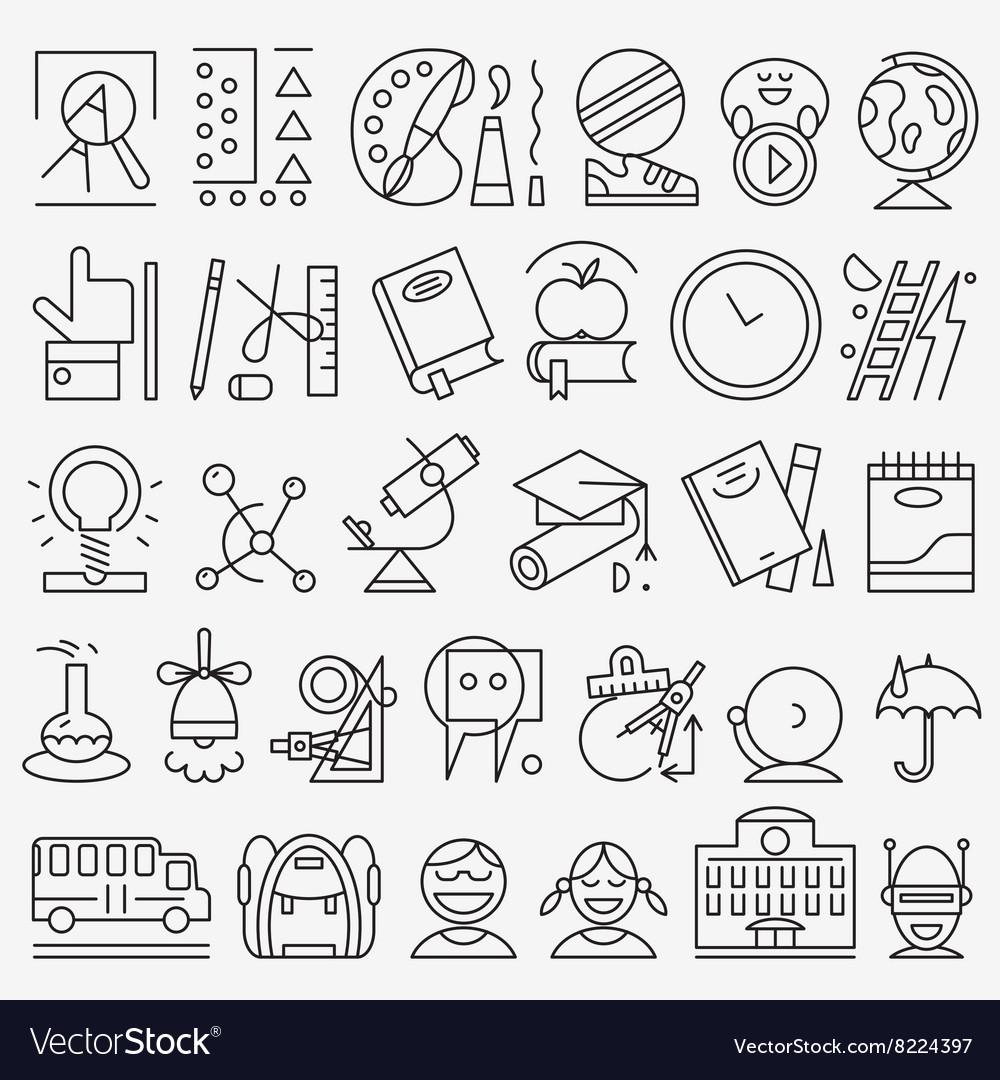 School education - icons set