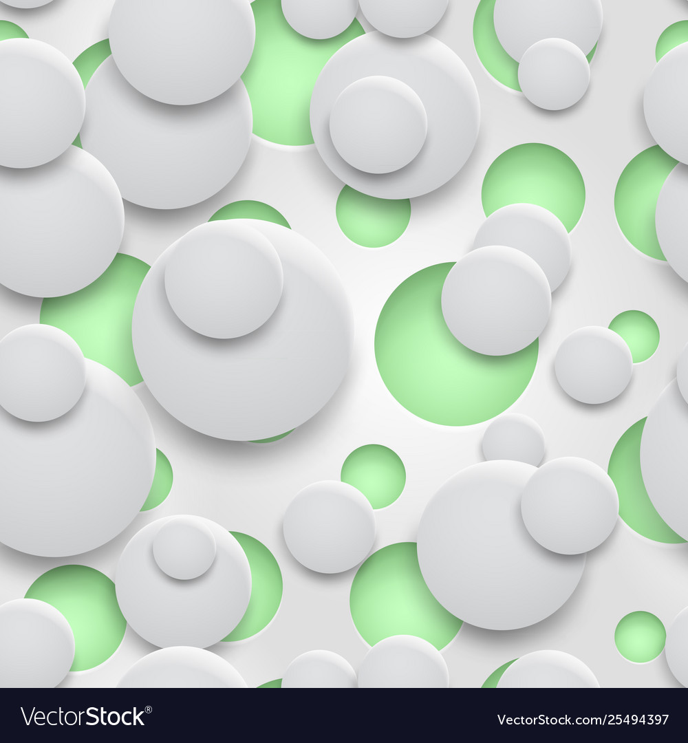 Seamless pattern holes and circles with shadows