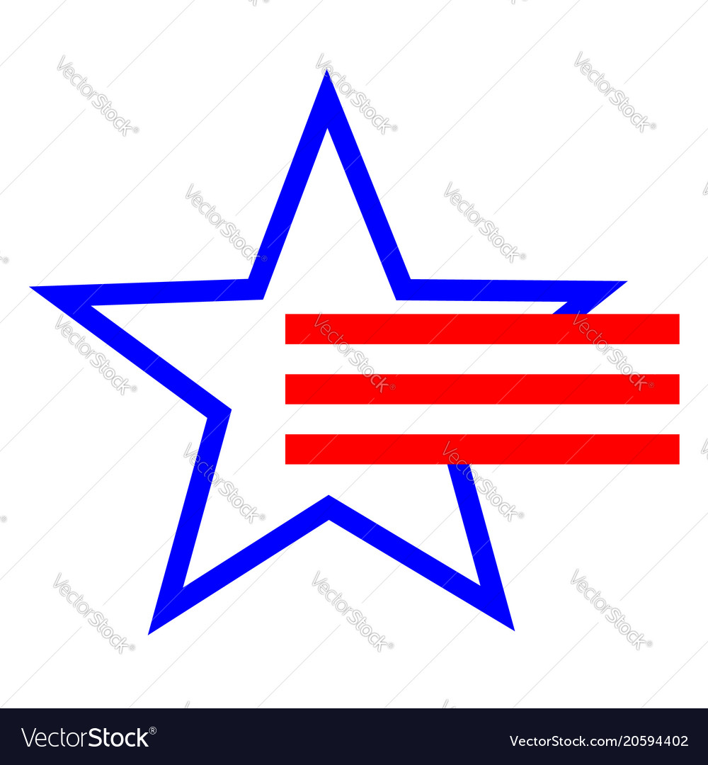 American star symbol and red stripes