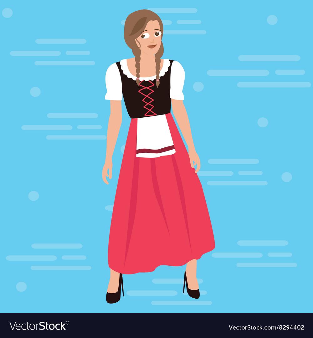 Bavarian girl oktober festival dress costume