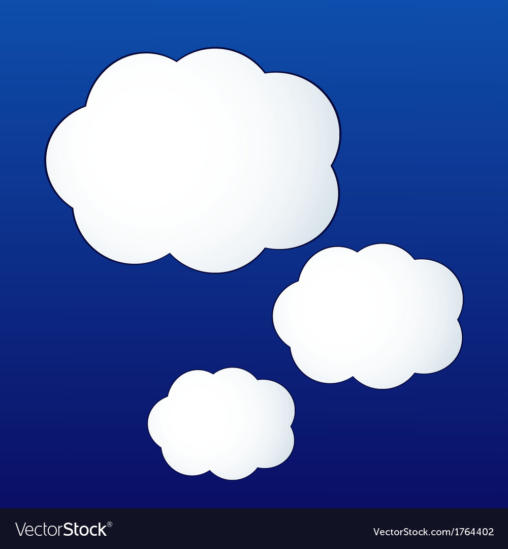 Cloud shape stickers Royalty Free Vector Image
