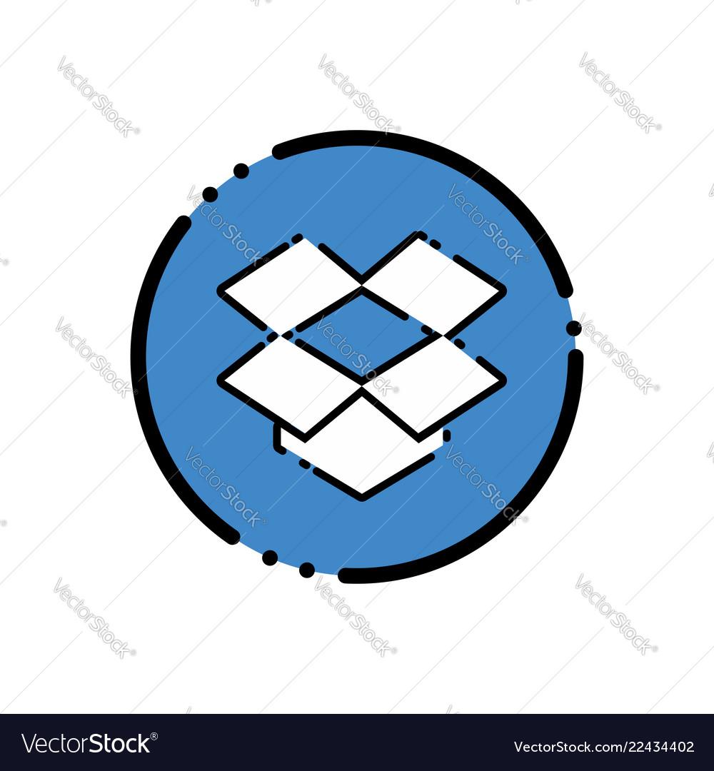 Dropbox Icon Design Royalty Free Vector Image Vectorstock